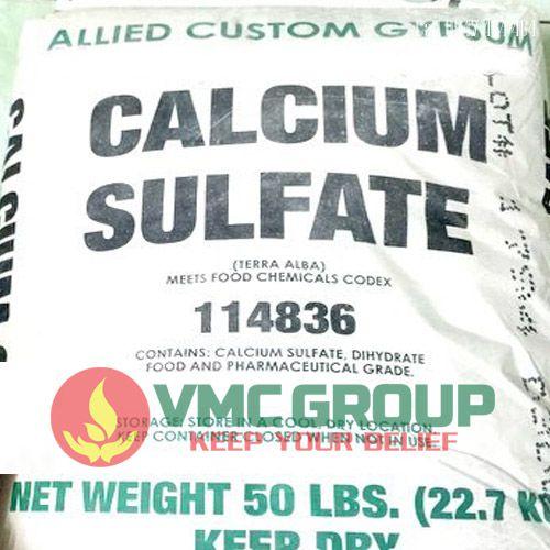 Canxi sunphat CaSO4 bao 25kg