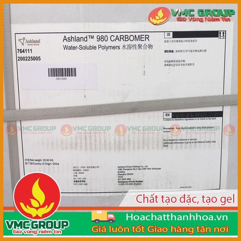 CARBOMER 940 chất tạo đặc/ tạo gel dùng trong mỹ phẩm