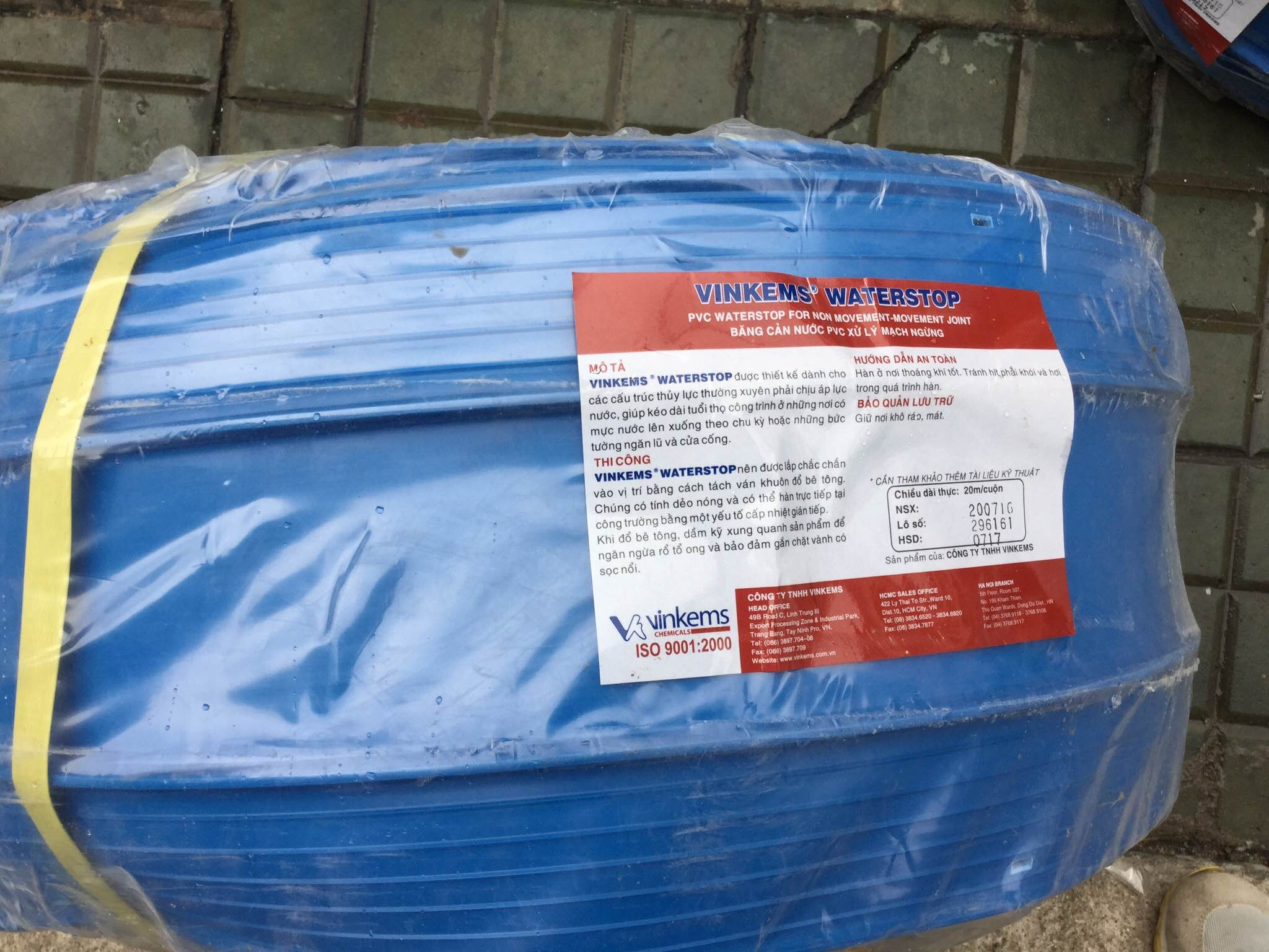 VINKEM WATERSTOP-BĂNG CẢN NƯỚC PVC