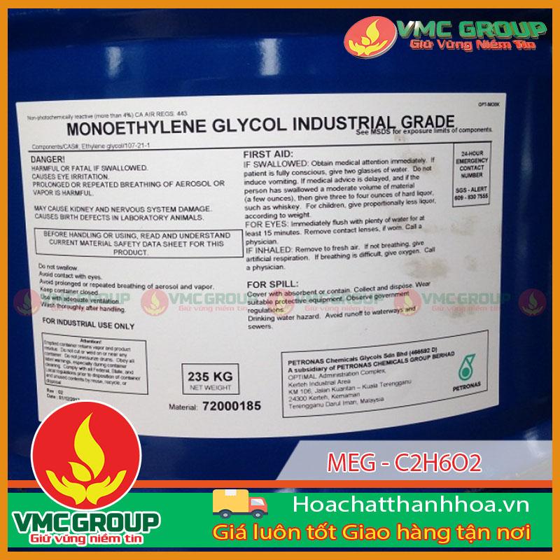 MEG (MONO ETHYLENE GLYCOL 99% )-C2H6O2 HÀNG MALAYSIA