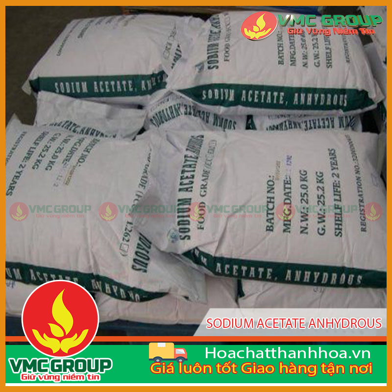 SODIUM ACETATE ANHYDROUS – TRIHYDRATE – E262 – C2H3NAO2 – CH3COONA - NATRI AXETAT